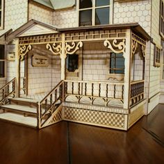 "Victorian Dollhouse - Crockett Victorian Dollhouse Kit 1/2"" Scale, $94.99 (http://woodvictoriandollhouse.com/crockett-victorian-dollhouse-kit-1-2-scale/)"