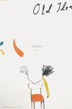 """JOSH BERMAN – OLD IDEA  By: Nick & Nadine  Date: 2009  Size: 12.5 x 19""""  Edition: 100 (not numbered)  Colors: 5-color screen print"""