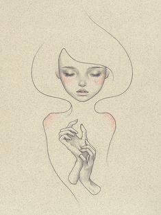 "Interlude (Main Room) | Thinkspace Gallery | Audrey Kawasaki ""Drawing 03"""