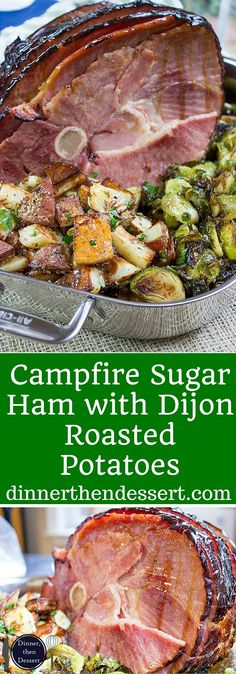Campfire Sugar Ham with Dijon Roasted Potatoes Cured and Smoked, these limited edition CuremasterReserve Ham are a great addition to your Easter Dinner. AD