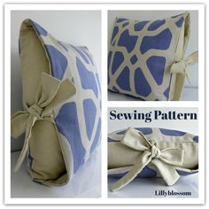 Contrast Tied Pillow Cover Sewing Guide | Craftsy