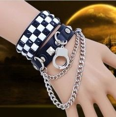 Punk is a sister sub-culture of ours. We were inspired by these accessories. Emo Jewelry, Couple Jewelry, Gothic Jewelry, Fashion Jewelry, Jewellery, Punk Fashion, Gothic Fashion, Street Fashion, Emo Mode