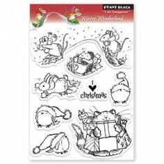 30-083 PB Clear Stamps winter wonderland   Penny Black   Create4fun