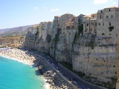Tropea - beautiful beach, the incredible church up on the hill, its deliciously powerful red onions, and its famous plazza in the center of town at night.