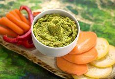Green pea, parsley, and pistachio dip recipe