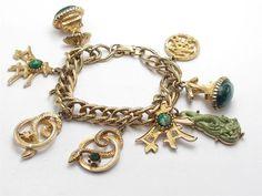Vintage Chinese Theme Ornate Charm Bracelet