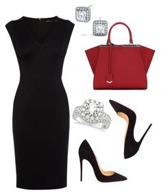 """""""Untitled #155"""" by sanchez-drummond ❤ liked on Polyvore featuring Karen Millen, Christian Louboutin, Fendi and Allurez"""