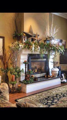 Christmas Fireplace Decoration
