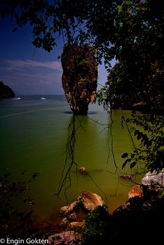 James Bond Island, Thailand. Koh Yao Yai & Koh Yao Noi are situated in the middle of Phang Nga Bay, around 40 kilometers from Phuket, to the west, and the same distance to Krabi in the east.  http://www.islandinfokohsamui.com