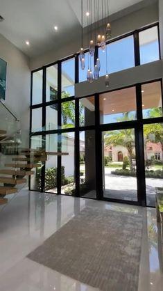 Dream House Interior, Luxury Homes Dream Houses, Dream Home Design, Modern House Design, Home Interior Design, Modern Mansion Interior, Modern House Facades, Small House Design, Exterior Design