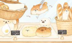 Cute Food Drawings, Cute Kawaii Drawings, Cute Animal Drawings, Kawaii Chibi, Cute Chibi, Kawaii Art, Cute Food Art, Cute Art, Love Illustration
