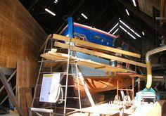 """La gabare """"André-Yvette"""" en restauration à Saint-Vaast-la-Hougue"""