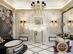 Best Bathroom Designs in UAE from Luxury Antonovich design Modern Luxury Bathroom, Serene Bathroom, Bathroom Design Luxury, Luxury Interior Design, Minimalist Bathroom, Dream Home Design, House Design, Sofa Design, Furniture Design