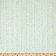 Designed by Lori Holt for Riley Blake, this cotton print fabric features lines of cursive. Perfect for quilting, apparel and home decor accents. Colors include blue and white.