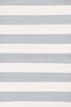 Blue & Ivory Striped Indoor/Outdoor Area Rug