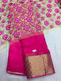 whatsapp us on for further detail                  Chiffon Saree, Georgette Sarees, Indian Wedding Outfits, Indian Outfits, Indian Attire, Indian Wear, Beautiful Saree, Beautiful Blouses, Jute