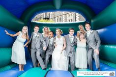 #BridalParty on a bouncy castle