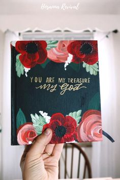 At Hosanna Revival, we love covering Bibles and journals and canvases with pretty flowers, starry skies, and all things beautiful.