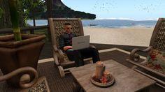 Fred Adjani dans le monde virtuel entrain de tchatcher avec des femmes d...