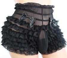"3951fd2c48 Sissy Pouch Panties silky lace bikini size20-38"" sexy 4 men 822 Bra Lingerie"