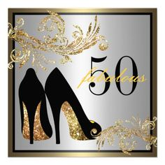Dancing Shoes | Fabulous 50th Birthday Invitation