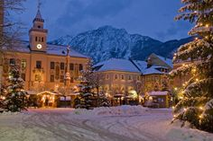 BAD-REICHENHALL - Houses Winter Snow Fir Night (Baviera-Germania)