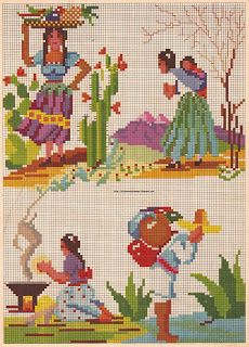Mexican vintage pattern