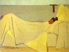 Jean Édouard Vuillard (French painter, 1868-1940) In Bed 1891