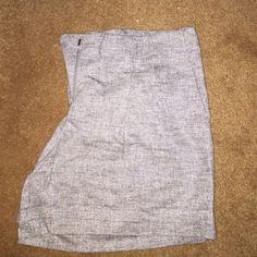 Brand new Ann Taylor metallic grey shirts Brand new Ann Taylor loft metallic light grey shorts/cuffed leg/ belt loops/mid thigh length Ann Taylor Shorts