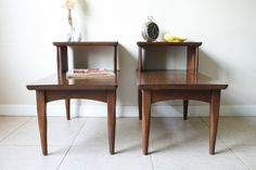 Mid Century Modern Step Tables  Pair of 1960s by RetroTherapyRehab, $180.00