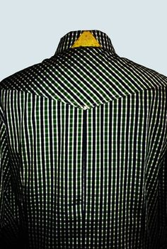 Men's shirt by busurmanka LeniE'. Back view. Collar . Details : buttons from nacre, metal press-button, pockets, perforated yellow leather details. Made of Italian lawn (100% co). Made in Baskot from Ukraine . 2015 Contacts for the order : +380500511295 lenie.busumanka@gmail.com #busurmanka_lenie #ev_lenie #bespoke #male #fashionmen #uomo #pittiuomo #luxury #hollywood #bollywood #kpop #menstile #menswear #mensfashion #casual #shirt #lasvegas #italy #mensclub #manstailor #buyer…