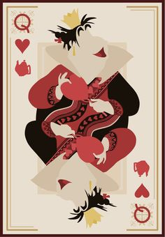 The Queen of Hearts As Herself | Disney Villianesses Have Great Poker Faces