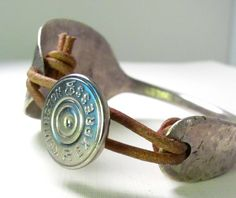Silver Spoon Bracelet Remington Shotgun Shell by thebeadedlizard