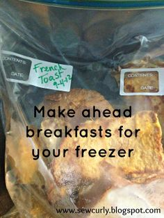Kristina Grum at Sew Curly: Freezer Cooking - breakfast edition