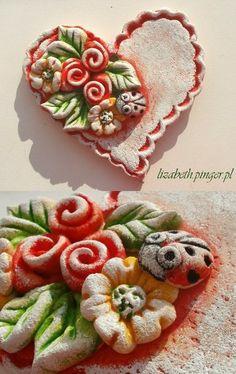 Salt Dough Crafts, Ceramic Art, Tiles, Hearts, Clay, Pendants, Valentines, Ceramics, Projects