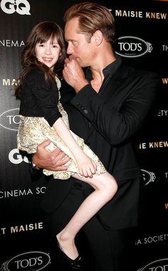 So cute! Alexander Skarsgard and Onata Aprile at the NYC screening of What Maisie Knew (May 2, 2013). (Original: Just Jared) #BFFs