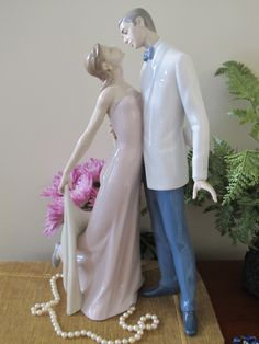 "Lladro "" Happy Anniversary"" Couple Figurine - Mint w Box - 1997- Wedding- Bride -Retired by ChezKathleen on Etsy"