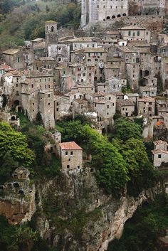 Sorano, Tuscany, Italy >>> One of the country's many beautiful hill towns, by the looks.