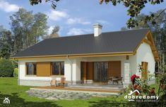 Agaton II, 91,7 m2 - zdjęcie od Pracownia Projektowa Dobre Domy Flak & Abramowicz - Homebook Sims House Plans, Loft, Small House Design, Exterior, Fire, Places, Outdoor Decor, Home Decor, For Sale