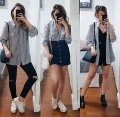 Branco e preto still/sun, 2019 летняя одежда, одежда ve корейская мода Trendy Outfits, Fall Outfits, Summer Outfits, Cute Outfits, Fashion Outfits, Fashion Tips, Mode Streetwear, Elegantes Outfit, Inspiration Mode