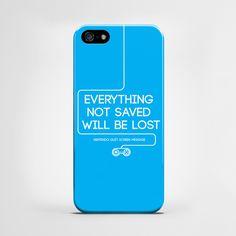 Everything not saved - cover iPhone 5 i 5s w artiglo na DaWanda.com