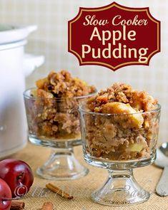 Apple Dapple Pudding. #autumn #desserts #apples