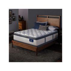 Serta Alima Terrace Super Pillow Top Firm Mattress & Box Spring Set, White