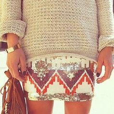 #skirt #sequins