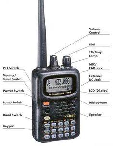 Yaesu Vx5R tri band handheld radio.