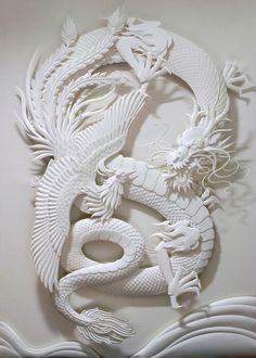 Jeff Nishinaka ~ Dragon Paper Sculpture