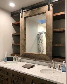 #bathroomideas #DIYHomeDecorMirror