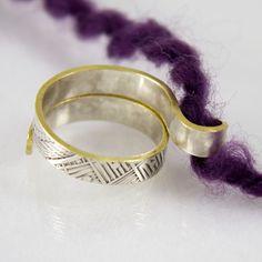 Yarn Guide Ring, Silver ❥ 4U // hf