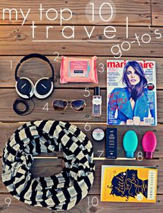 top 10 travel go-to's.