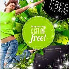 Oferta 2x1 hasta el 31/12/2014 por la compra de una caja de #wraps otra totalmente gratis, es fantástico es #itworks #parchesreductores